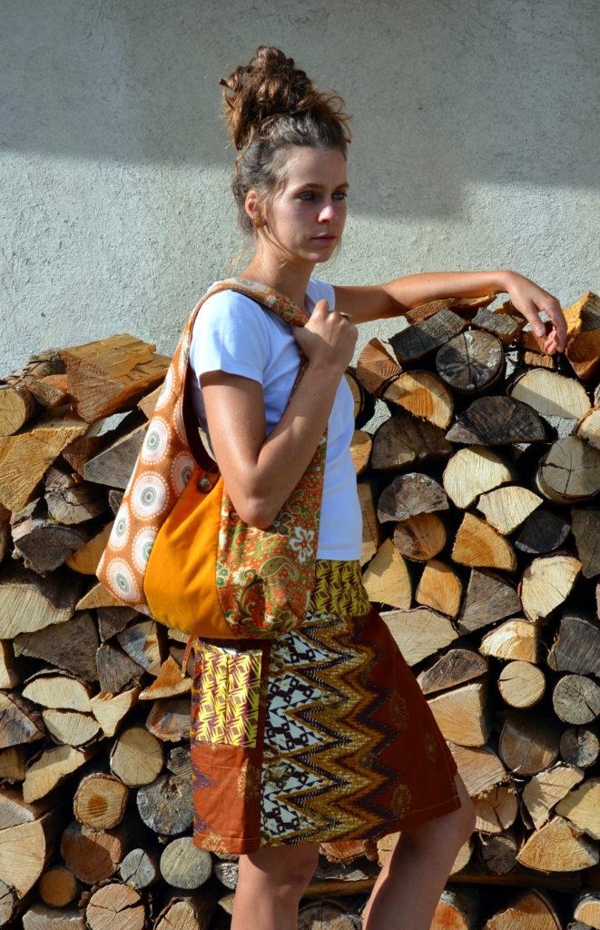 jupe portefeuille fulong ethnique créateur taille unique