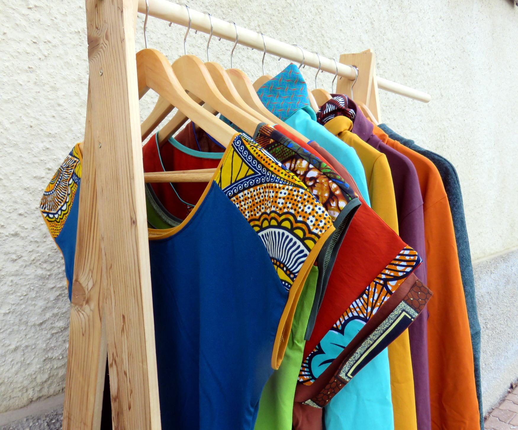 vêtements streetwear ethnique fait main original créateur made in france wax batik coloré unique
